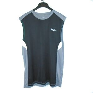 Fila Shirt Sleeveless Workout Gym Active Large